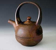 wood firfed teapot