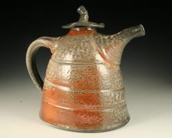 soda fired teapot